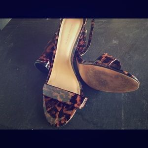 Banana republic leopard print strappy heels